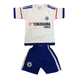 Bộ quần áo thể thao em bé mẫu CLB Chelsea màu trắng