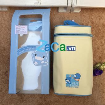 Túi Ủ Bình Sữa Đôi Kuku(Xanh Dương Nhạt)