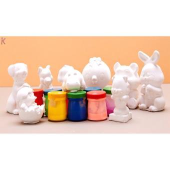 Bộ đồ chơi tô tượng cho bé 10 con (kèm theo hộp màu và bút lông)