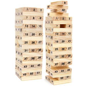 Bộ 2 đồ chơi rút gỗ Wiss Toy 54 thanh kèm 4 con súc sắc cho bé