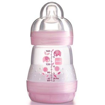Bình sữa chống đầy hơi 160ml ( Núm vú 0M+) - Hồng