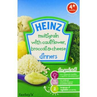 Bột ăn dặm Heinz dinner vị súp lơ bông cải phomai cho bé 4m+ 125g(Natural)