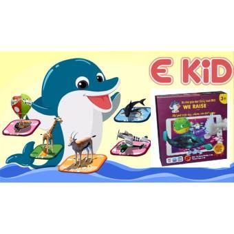 Bộ tranh ghép hình tương tác 3D (AR) song ngữ Anh/Việt EKID We Raise - Chim và Cá
