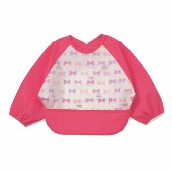 Yếm áo nilon 2 lớp cho bé ăn dặm xuất Nhật