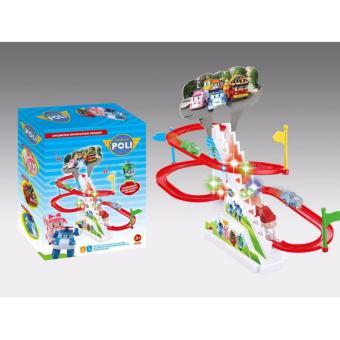 Bộ đồ chơi đua xe oto Poli cao cấp cho bé yêu