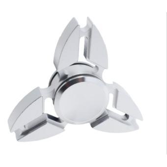 Con quay 3 cánh Fidget Spinner Sakura cao cấp màu bạc( Hàng chất lượng loại 1)