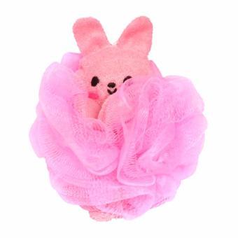 Bông tắm cho bé hình thỏ hàng Nhật (Hồng)