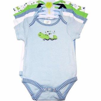 Bộ 5 áo liền quần bé trai từ sơ sinh đến 6 tháng BG (Màu sắc ngẫu nhiên)