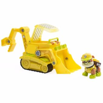 Đồ chơi Paw Patrol xe công trình và chó Rubble Jungle Bulldozer - 16702SML