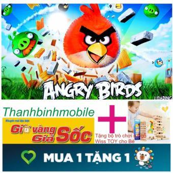 Bộ đồ chơi cho bé Angry Birds +Tặng bộ trò chơi Wiss Toy