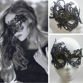 Comebuy88 Eye Mask Sexy Lace Venetian Masquerade Halloween Party Fancy Dress Costume- - intl