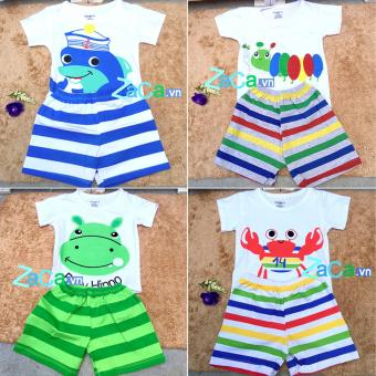 4 Bộ quần áo cho trẻ em, sơ sinh 100 % cotton Size 2 (7-9kg) mẫu bé trai
