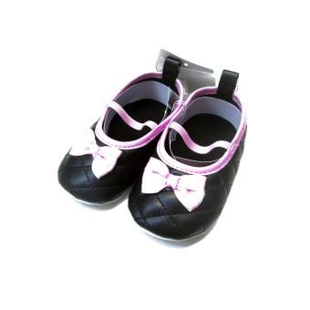 LF Giày búp be đính nơ Mary Jane cho bé gái Luvable Friends 12-18M - Đen