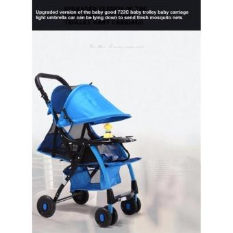 Xe đẩy em bé cao cấp Baobaohao 722C New Version 2017 (Xanh dương)