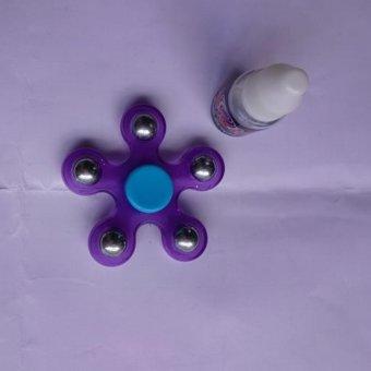 Con quay spinner 5 canh (tím) tặng kèm dầu bôi trơn dùng cho cả trẻ em và người lớn