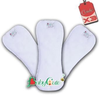 Bộ 3 miếng lót tã vải ngày BabyCute size L (14-24kg)