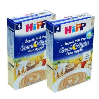 Bộ 2 hộp Bột ăn dặm táo tây & sữa Hipp 250g