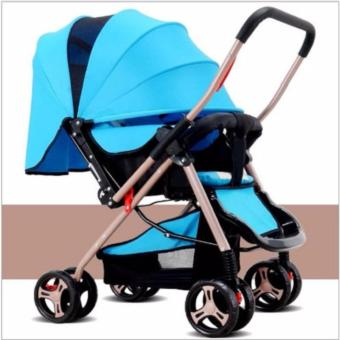 Xe nôi em bé cao cấp baby906 màu xanh -AL