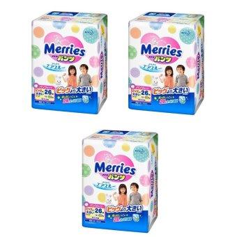 Bộ 3 tã quần Merries XXL26