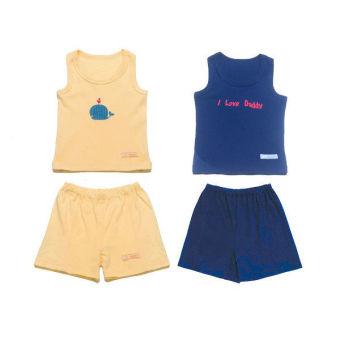 Bộ 2 bộ quần áo ba lỗ bé trai Lullaby