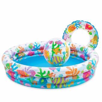 Bể bơi Intex cho bé(kèm bóng và phao bơi)