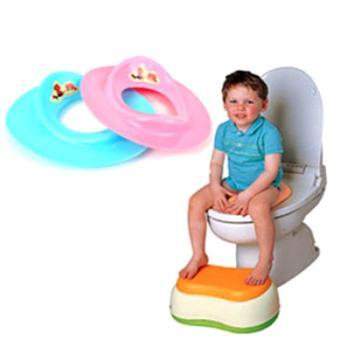 Bệ lót thu nhỏ bồn cầu an toàn cho bé (xanh)