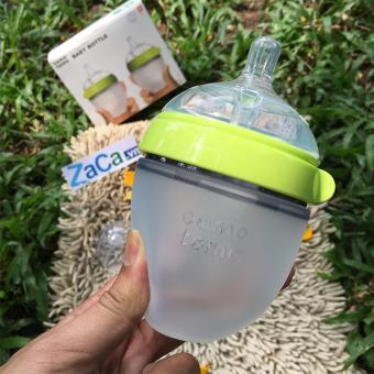 Bình Sữa Silicone Comotomo 150ml (Xanh) Chính Hãng