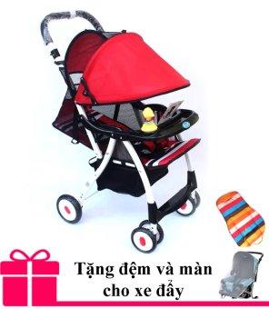 Xe nôi đẩy trẻ em Baobaohao 722C mẫu mới 2016 (Đỏ) + Tăng kèm đệm và màn xe đẩy