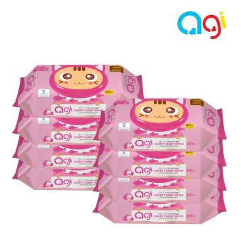 Bộ 8 gói khăn ướt Agi 80 tờ có hương