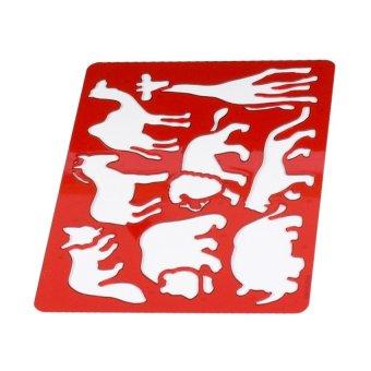 Bộ Khung Nhựa Vẽ Hình UBL (Đỏ)