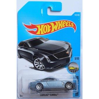 Xe ô tô mô hình tỉ lệ 1:64 Hot Wheels 2017 Cadillac Elmiraj 105/365 ( Màu Xám )
