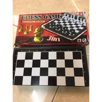 Bộ cờ vua theo tiêu chuẩn có dính bằng nam châm giành cho 2 người chơi