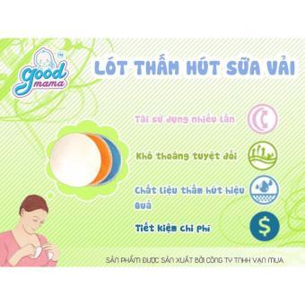 Miếng lót thấm sữa giặt được Goodmama ( hộp 8 miếng)