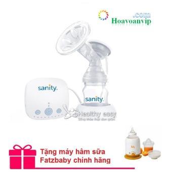 Máy Hút Sữa Điện Đơn Sanity Ap154ae + Tặng máy hâm sữa Fatz đa năng