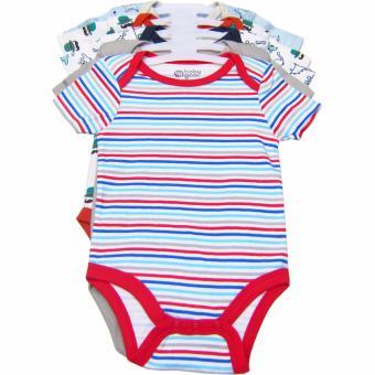 Bộ 5 áo liền quần bé trai từ sơ sinh đến 6 tháng BG (Màu sắc ngẫu nhiên đẹp)
