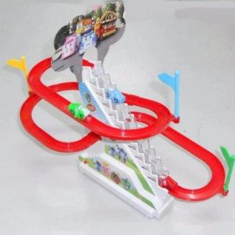 Bộ Đồ Chơi Lắp Ráp Đường Đua Ô Tô Leo Cầu Trượt Chạy Bằng Pin Cho Bé(Nhiều màu)