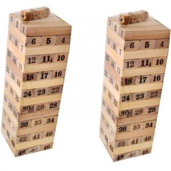 Bộ 2 đồ chơi rút gỗ 54 thanh Hoài Anh