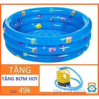 Bể bơi tròn 3 tầng tặng Bơm bơi cho trẻ Smart Store