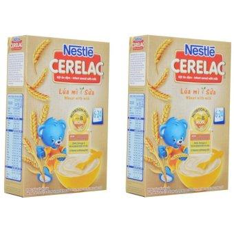 Bộ 2 Bột ăn dặm Nestle LÚA MÌ SỮA 200g