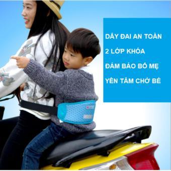 Dây đai 2 lớp an toàn cho bé đi xe máy
