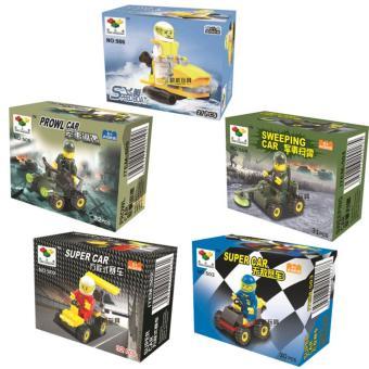 Bộ 5 hộp đồ chơi lắp ráp xe mini