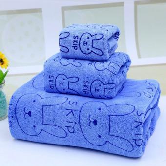 Bộ 3 khăn mềm mịn cho mẹ và bé (xanh)