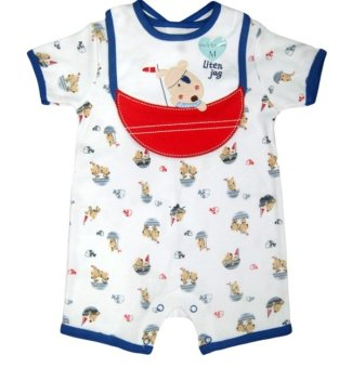 Bộ áo liền quần kèm yếm bé trai Tempo Little Jag