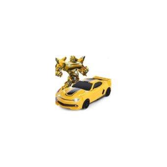 Xe ô tô biến hình thành Robot cho bé(Vàng)
