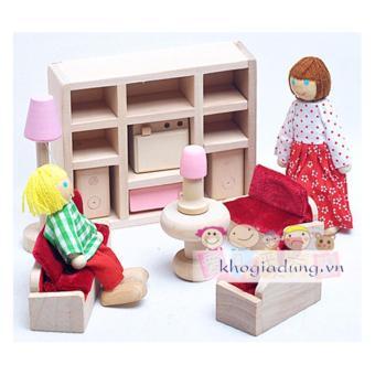 Bộ đồ chơi phòng khách 11 chi tiết(Kem)