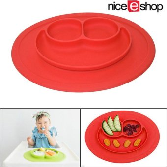niceEshop Baby Silicone Feeding Placemat Plate,Red - intl