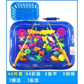 Bể phao câu cá loại 2 cần cho bé(tặng kèm bể phao+ Bơm tay)