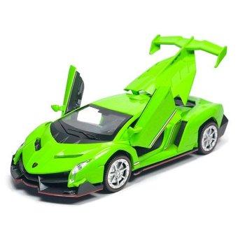 Xe Mô Hình Sắt - Kiểu dáng Lamborghini Veneno - Tỉ Lệ 1/32 - Xanh Lá