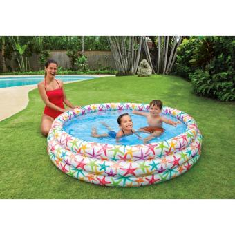 Bể Phao Bơi Cho Trẻ Em Hoa Văn Đại Dương 1.68m X 38cm + Tặng Kèm Bơm Điện