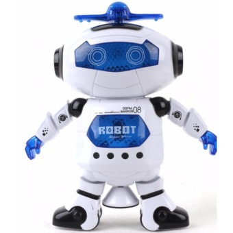 Đồ Chơi Robot Thông Minh Nhảy Múa Hát Xoay 360 Độ (Xanh)